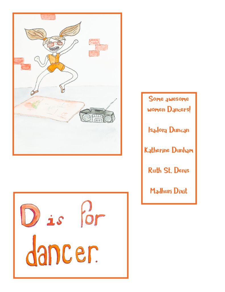 ABC Like A Girl by Ariel Shultz – D is for Dancer